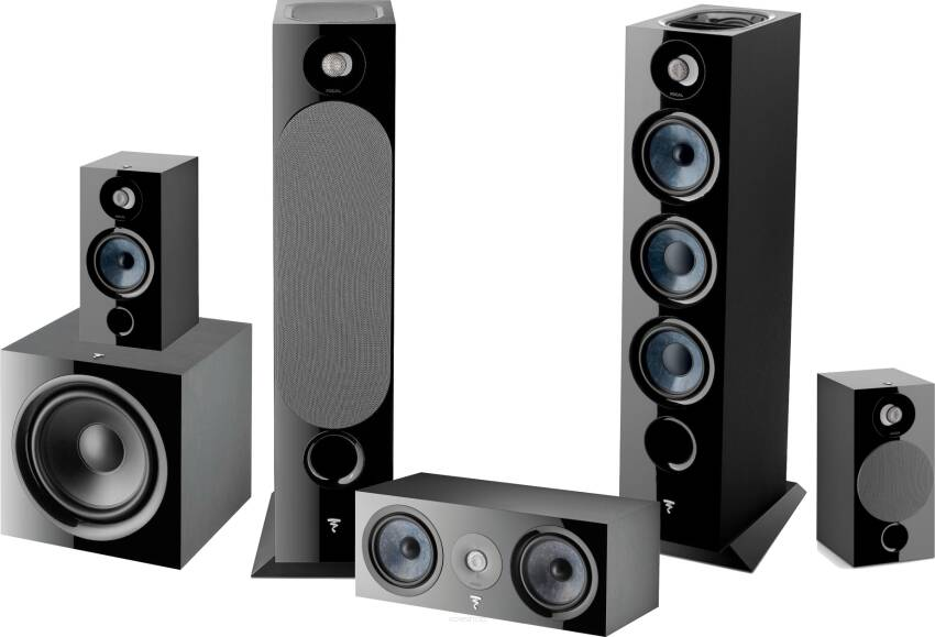 Focal Chora 826-D + Center + 806 + SUB 600P ATMOS CZARNY
